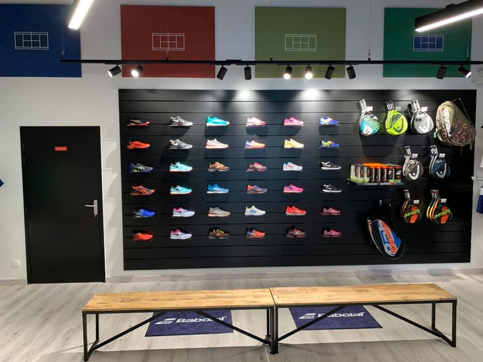 Agencement chaussures de sport