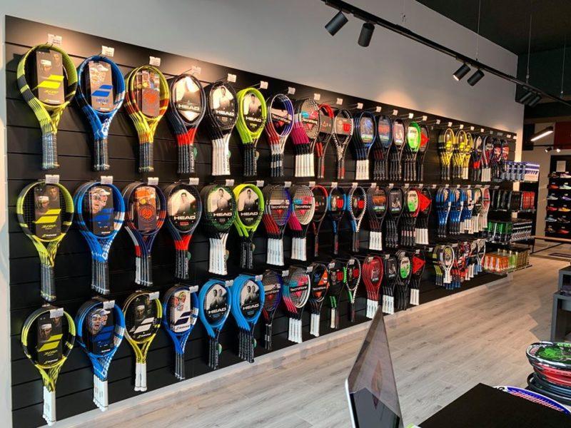 Aménagement magasin de tennis