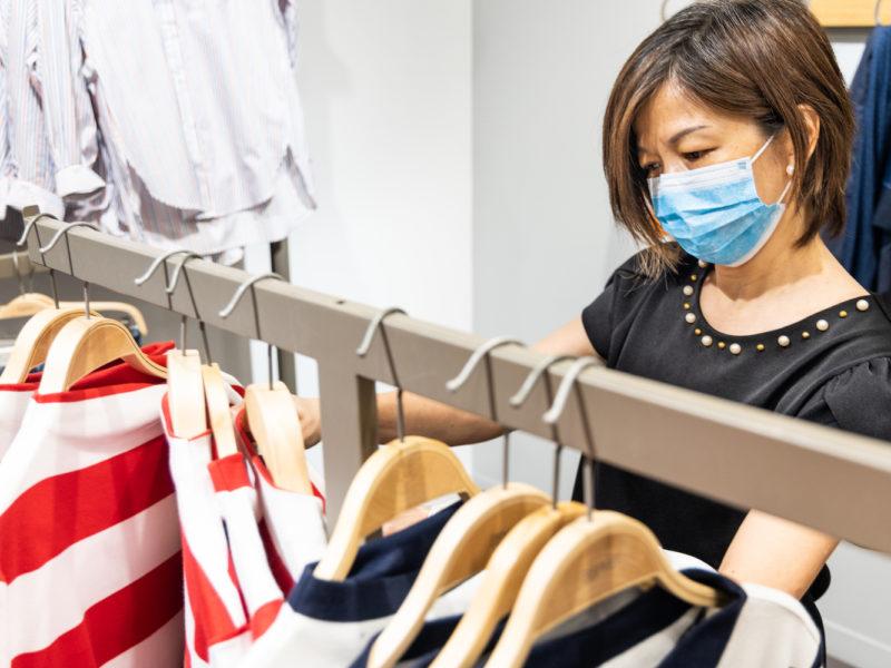 aménagement boutique covid 19 masque